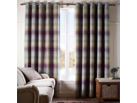 Dunelm Orkney Checked Curtains