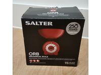 BRAND NEW Salter Orb Mechanical Kitchen Scale RED