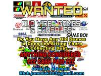 WANTED PS4 - 3, XBOX ONE - 360 and All Retro