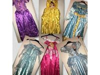 6 x Disney princess dresses excellent condition worn twice and one still with tags