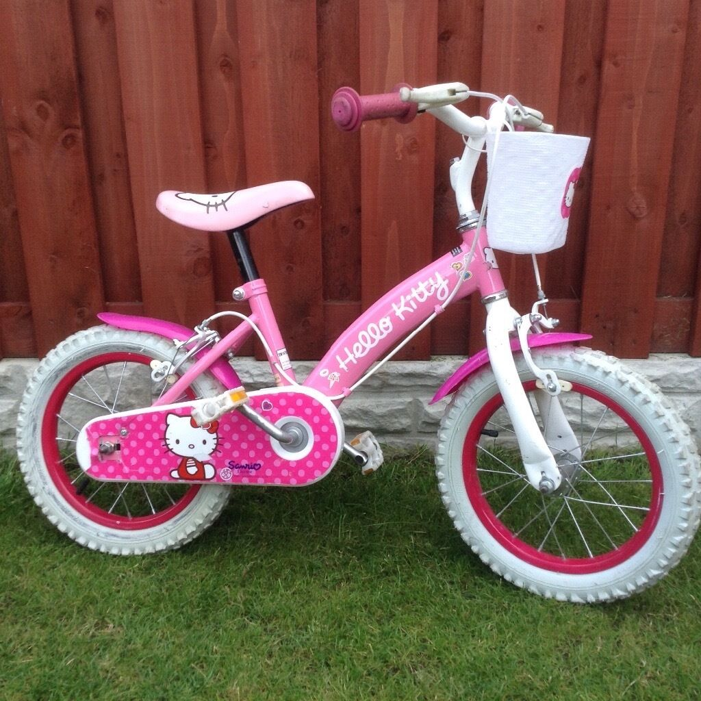 Hello kitty bike'