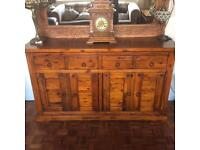 Solid wood Indian style sideboard