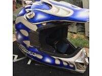 Boys motocross helmet