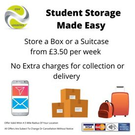 STUDENT STORAGE, STUDENT MOVING SERVICES, STUDENT OFFER (VISA MASTERCARD AMEX)
