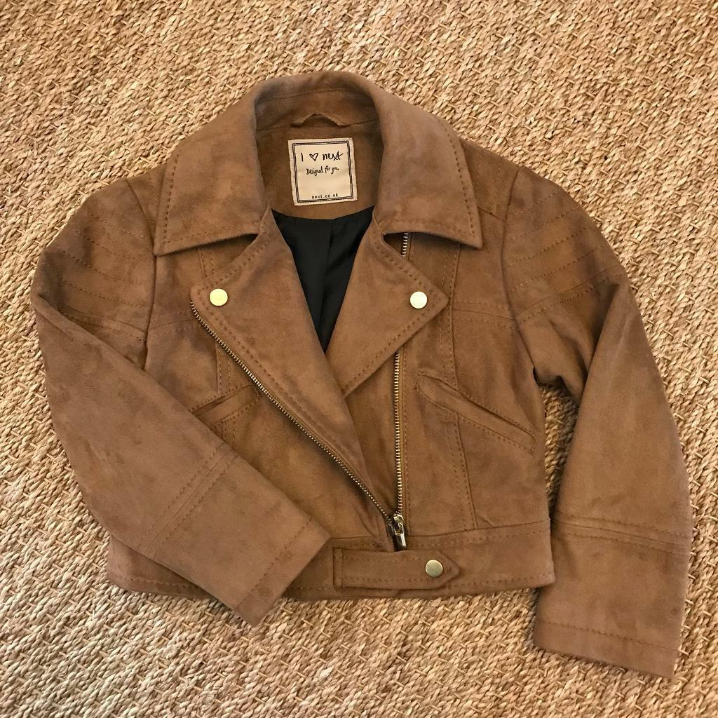02c359fbaeb5 Next Girls Faux Suede Jacket