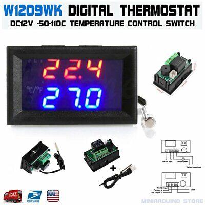 W1209wk Dc12v -50-110c W1209wk Digital Thermostat Temperature Control Sensor Ntc