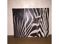 zebra print wall canvas