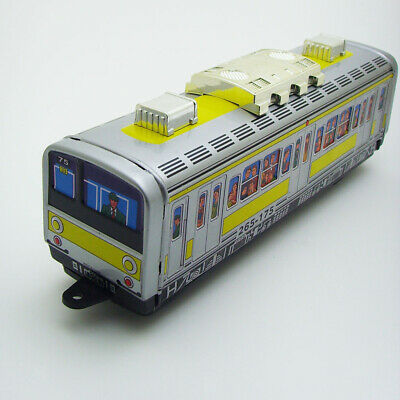 Retro Wind Up Tin Subway Train Clockwork Toy Perfect Collectible Gift Decor