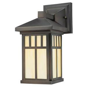 NEW Westinghouse 6732800 Burnham One-Light Exterior Wall Lantern on Steel with Honey Art