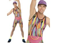 FANCY DRESS COSTUME MENS 1990'S WORK OUT TV FITNESS MR ENERGIZER