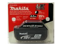Makita BL1840 18V 4.0Ah LXT Li-Ion Battery Genuine Star battery 2018 in pack or no