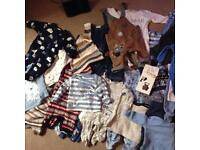 Two bags of boys baby clothes some brand new, jacket aswell, 0-3 months