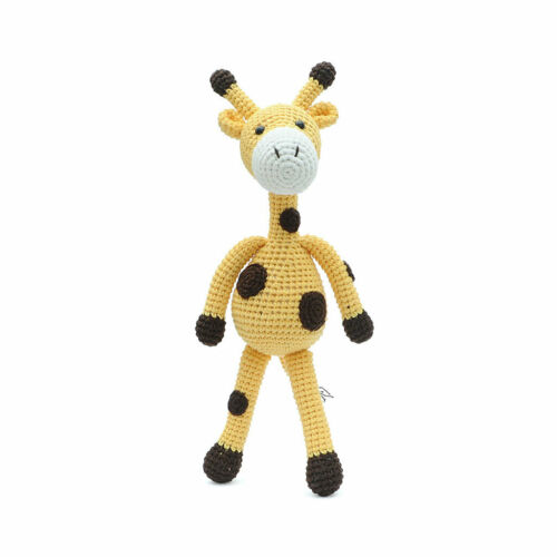 Adorable Dot Giraffe Handmade Amigurumi Stuffed Toy Knit Crochet Doll VAC