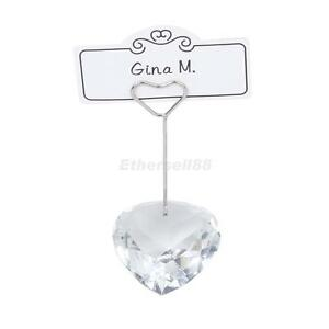 2-Clear-Love-Heart-Place-Card-Name-Holder-Wedding-Table-Decoration-Party-Favour