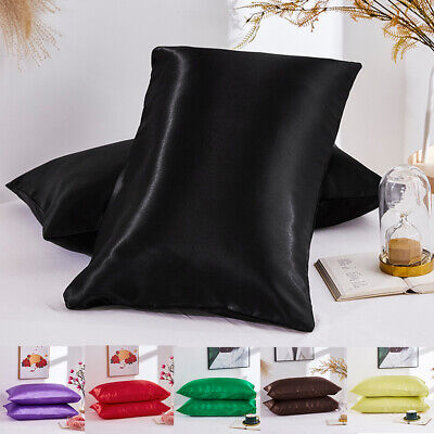 Silk Blend Pillow Case Luxury Pillow Covers Protector Bedding 20