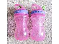 Nuby Pink Toddler Bottles