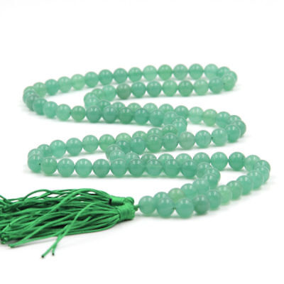 MONK 6mm 108 Green Chalcedony Beads Necklace Chakas Wrist Lucky Sutra pray](Monk Beads)