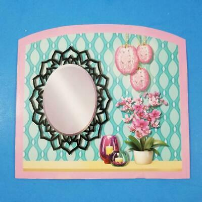 2015 Barbie Dream House 2nd Floor Bathroom Back Wall Inset Replacement Part