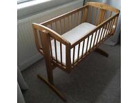 Wooden Baby Swing Crib