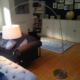 John Lewis curved floor lamp