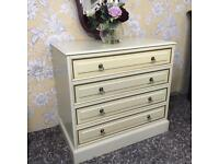 Chest of drawers cream colour