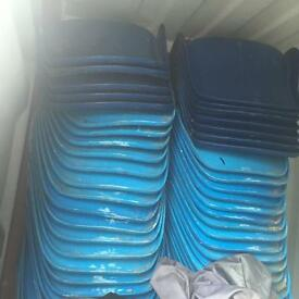 100 X Stacking stackable hard chairs. Delivery