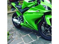 Custom green Yamaha YZF 2010 125cc super sport learner legal