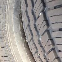 Barely used tires P225 70 R15