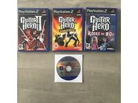 Sony PlayStation 2 slim Guitar Hero bundle - 1 console, 2 guitars & 4 games