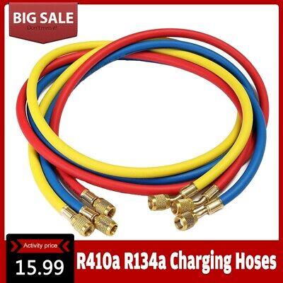 60 Manifold Gauge Charging Hoses Ac Refrigerant R410a R134a R22 R12 Hvac 14