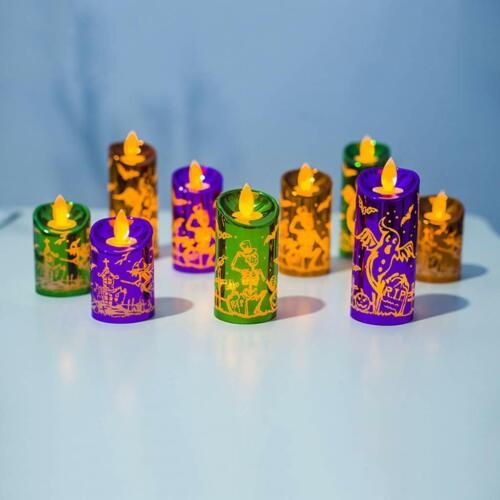 Halloween  Candle 3pcs/Set  Flickering Flameless Skull Halloween Party Decor