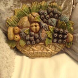 Pretty wall hanging depicting fruit basket