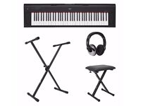 Yahama Piaggero NP-V80+ Pedal, Stand, Seat and The Complete Piano Player Guide (No Headphones)