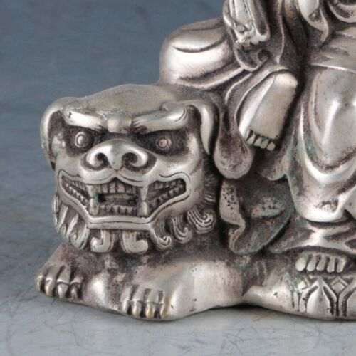 Chines Exquisite Silver Rabbit Statue Made During The Qianlong Period