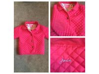 Girls pink Joules jacket 12/18months