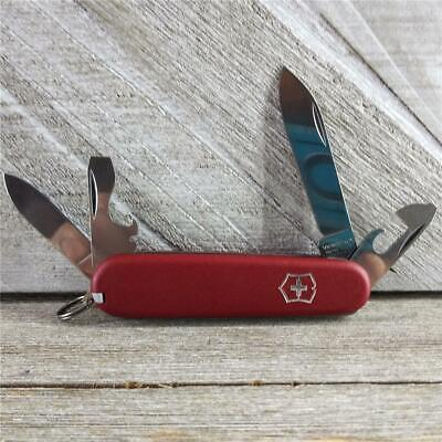 Victorinox Recruit Premium Nylon Scale Swiss Army Knife Red 84mm Excellent Cond!