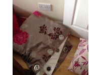 3 sets of curtains and cushions all curtains filled lined eyelets 90 drop
