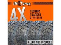 4x 215/65r16 Technic Tracker 215 65 16 Kingpin MT Mud Terrain Like BFG KM2 Tyres