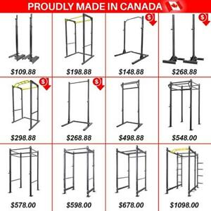 MADE in CANADA Power Rack Racks Full Cage Squad Stand Stands Half Monkey Rack Rig Tower Steel Weightlifting Powerlifting