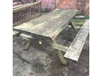 Wooden A frame bench heavy duty pine 6 seater