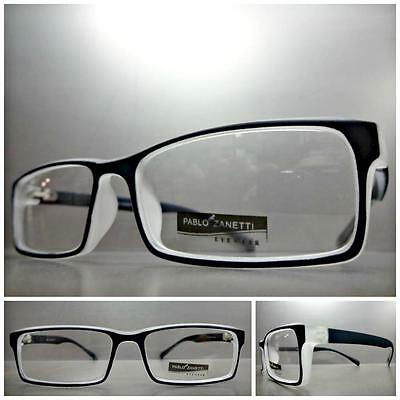 New SOPHISTICATED CONTEMPORARY Style Clear Lens FASHION EYE GLASSES Black Frame