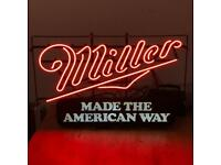 RARE Miller Neon Sign & Lightbox - Offers