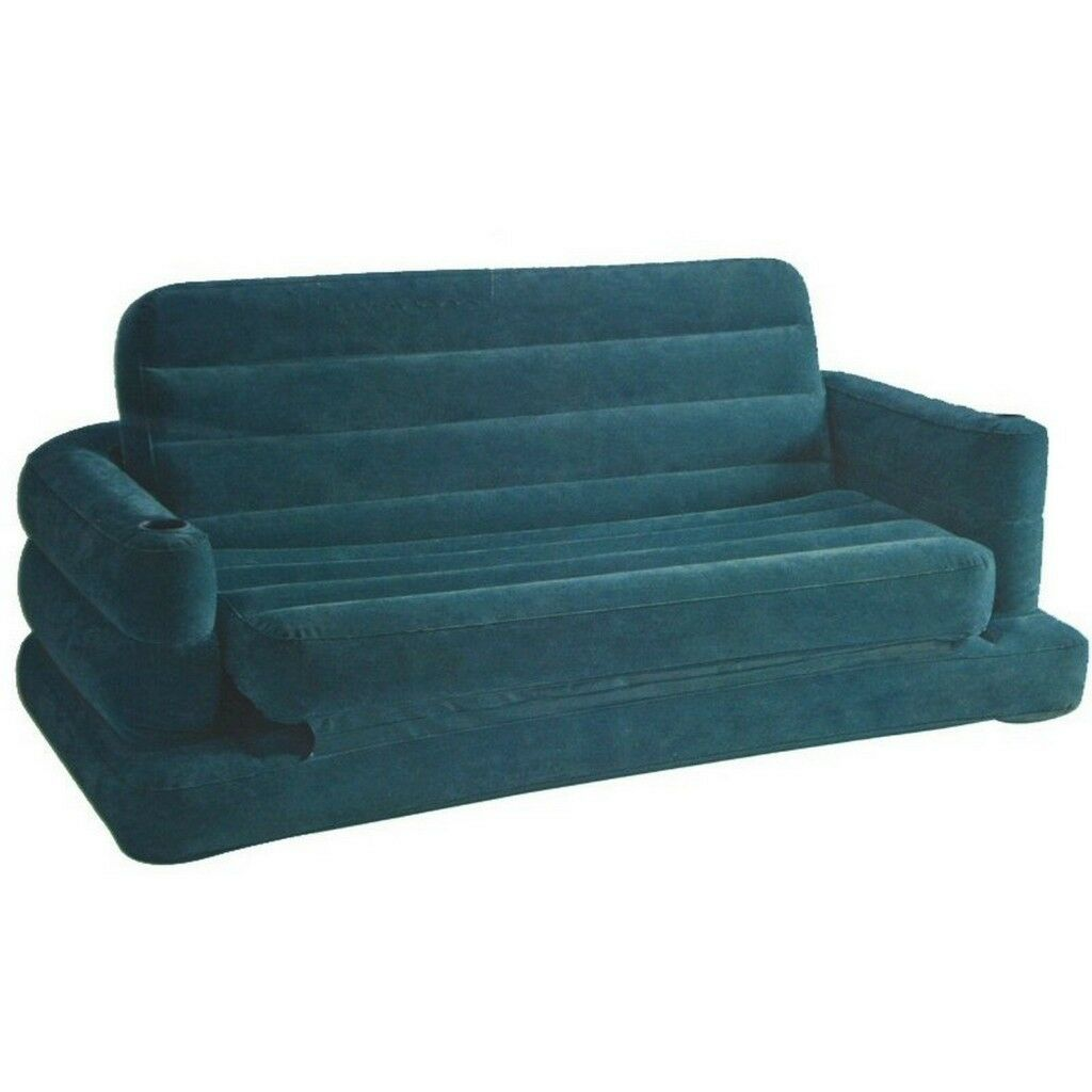 Inflatable Slate Coloured Pull Out Sofa Bed Settee