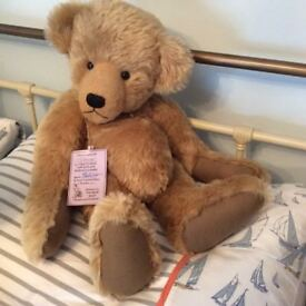 """Collectors bear. One of a kind. Mohair. With signed tag. Size 20"""". Great condition. Smoke free home"""