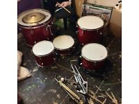 New drum set never been used