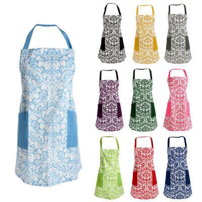 Vintage Apron Royal Court Style Bib Women Cotton Linen Aprons Home Cafe Use