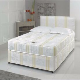 **100% GUARANTEED PRICE!**BRAND NEW-Divan Double Bed With Full Orthopaedic Mattress-Express Delivery