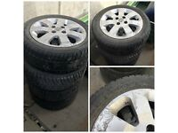 Vauxhall 185-55-15 Four Stud Alloy Wheels And Tyres Set of Four