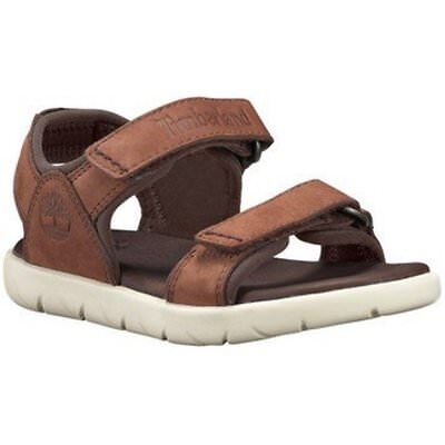 Timberland Kinder Sandalen (Timberland Unisex-Kinder A1P3F + A1RAH Nubble Leather 2 Strap Sandale Cappuccino)
