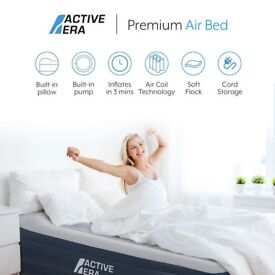 Premium King Size Double Queen Air Bed with a Built-in Electric Pump and Pillow